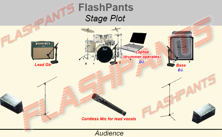 FlashPants Stage Plot